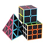 Roxenda Speed Cube Set, Magic Cube Set of 2x2x2 3x3x3 Pyramid Cube...