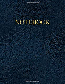 Notebook: Unruled – Unlined – Plain - blank Notebook – 100 pages numbered – Elegant Black Sea color with Gold lettering – A4/Letter Size – Diary, Journal, Composition Book, doodles