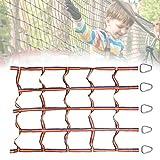Shunfaji Kletternetz für Kinder im Freien, Regenbogenband Körperliches Training Kletternetz, Ninja Slackline Set mit 5 Dreieckshaken für Kinder, für drinnen und draußen 145 x 185 cm