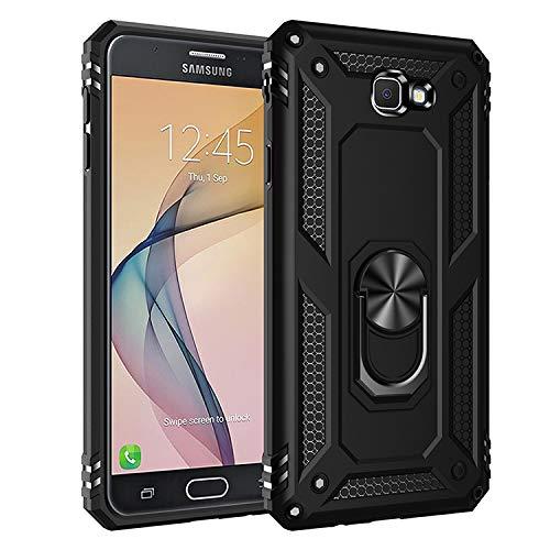 BestST Galaxy J7 Prime /On7 2016 Hülle 360 Grad Handyhülle Bumper Case Robust Cover [Ultra Hybrid Schutzhülle ]+ Bildschirmschutz für Galaxy J7 Prime /On7 2016 Schwarz