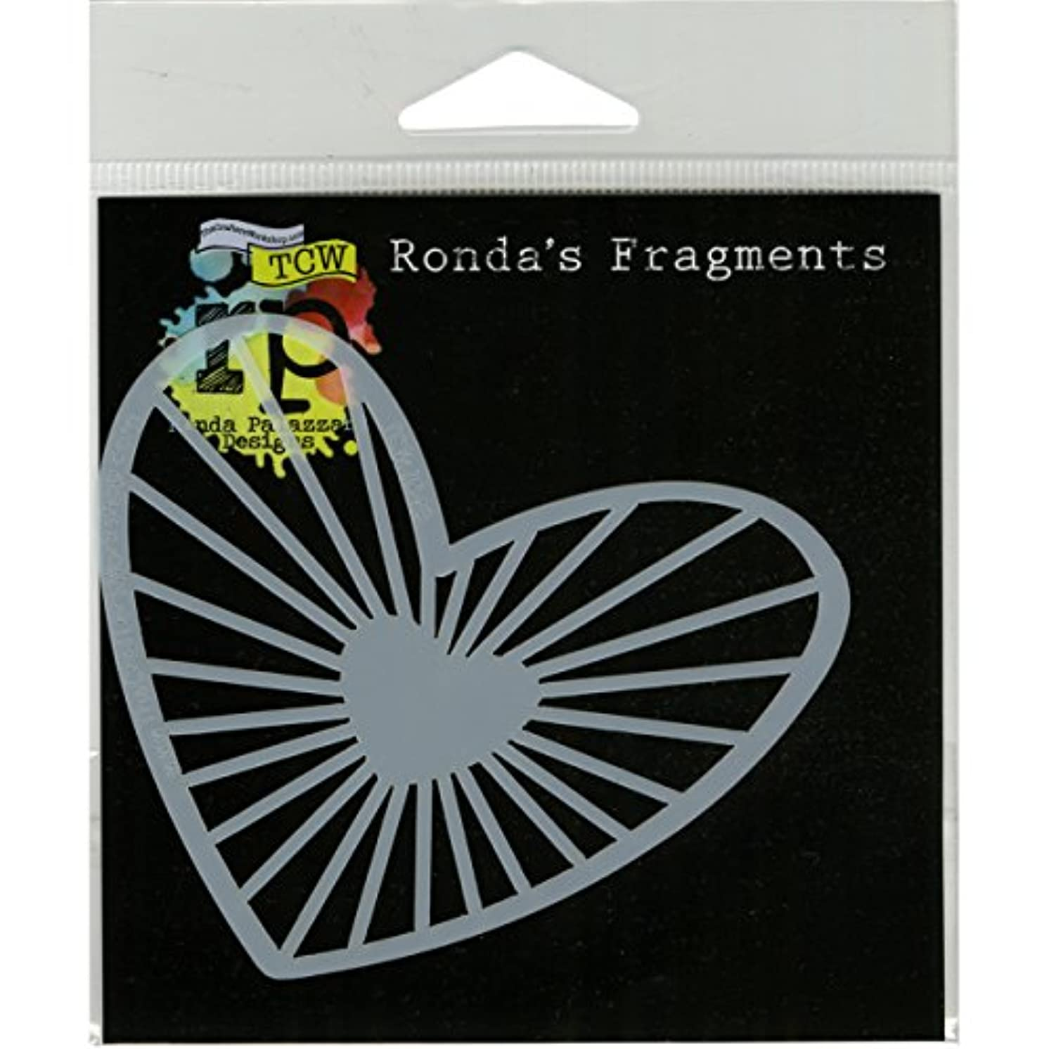 CRAFTERS WORKSHOP Heartstrings Fragments Templates, 4-Inch by 4-Inch