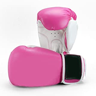 Wazenku ボクシンググローグ ずれにくく パンチングミット 分厚いクッション ボクシングジム/ボクシング ムエタイ テコンドー サンダ MMA 総合格闘技 (色 : ピンク, サイズ : 16OZ)