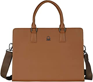 United Colors of Benetton 10 Ltrs Brown Laptop Messenger Bag (0IP6LBM01A08I)