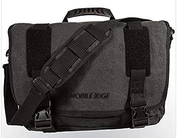 Mobile Edge Laptop Eco Messenger Eco-Friendly 17.3 Inch Cotton Canvas Charcoal for Men Women Business Student MECME5 Ash