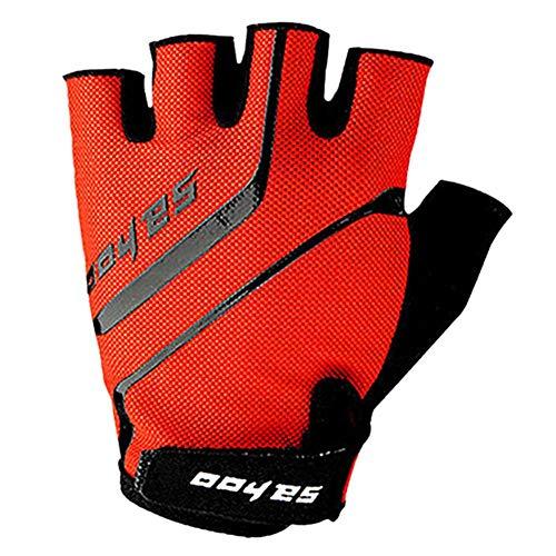 Half Finger Handschuhe für Männer und Frauen, Fahrradhandschuhe Fahrradhandschuhe, Highway Mountain Bike Motorrad Half Finger Anti-Rutsch-Bike Stoßdämpfung