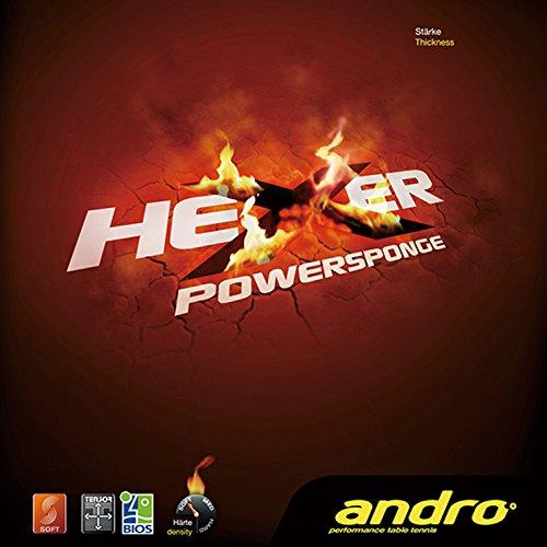 andro(アンドロ) 卓球 ラバー 回転テンション系 裏ソフトラバー ヘキサーパワースポンジ 112268 ブラック 1.7