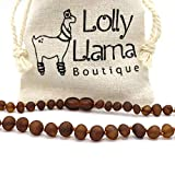 Genuine Baltic Amber Bracelet by Lolly Llama - Certified from The Baltic Sea - Cognac