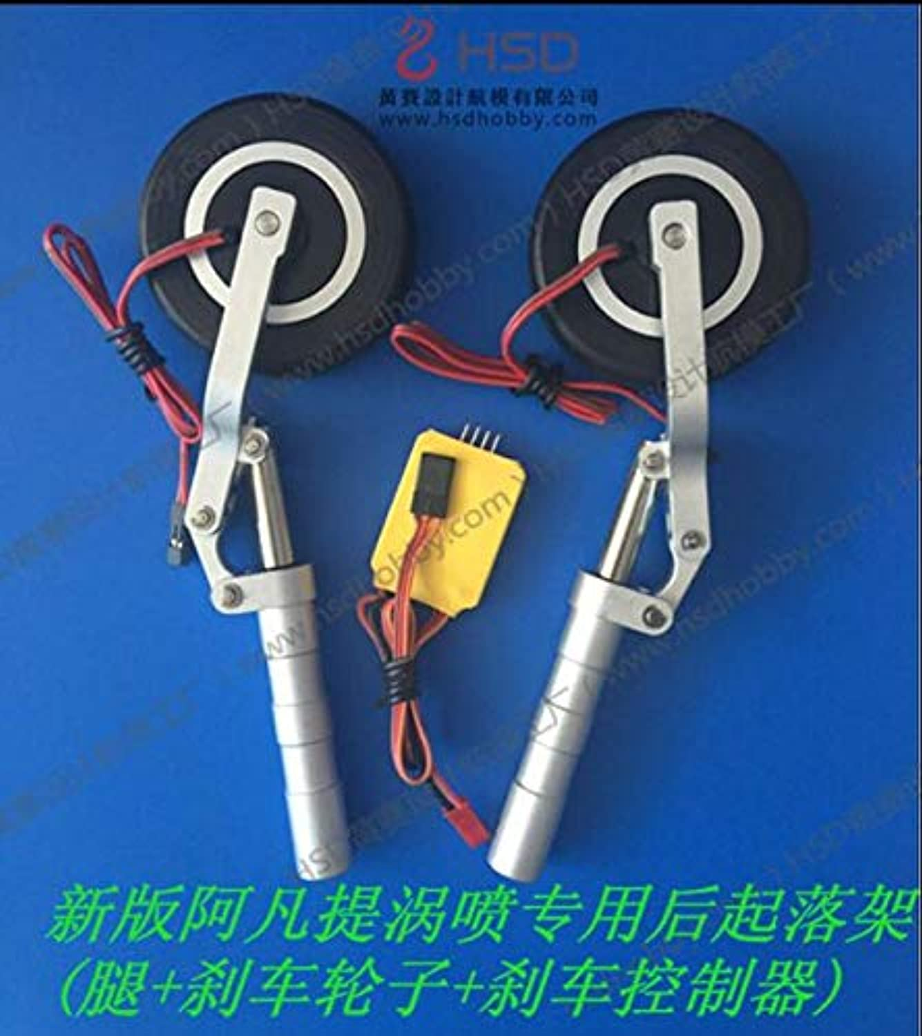 Laliva Main Landing Gears with Brake Wheels Without Retract Part of Super Viper Avanti Turbojet HSD Hobby rc Plane Model