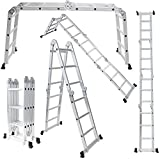 OxGord Aluminum-Multi-Folding-Ladder - Lightweight...