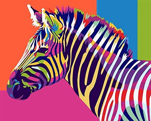 FFGHH Puzzle DIY Legno Classico Puzzles per Bambini Puzzle da Adulti Giochi Puzzle Colorato Gioco di Assemblaggio Brain Challenge, 1000 Pieces Jigsaw Ideale Decorazione Murale(Zebra) 75*50Cm