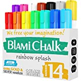 Blami Arts Chalk Markers and Chalkboard Labels Pack -14 Erasable...