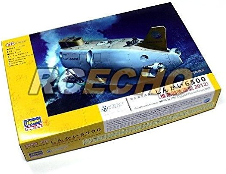 RCECHO& 174; Hasegawa Military modello 1 72 uomoned Submersible SHINKAI 6500 SW03 54003 H4003 with RCECHO& 174; Full Version Apps edizione