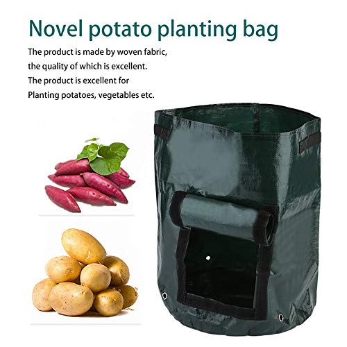 Woven Fabric Bags Potato Cultivation Planting Garden Pots Planters Vegetable Planting Bags Grow Bags Farm Home Garden PE