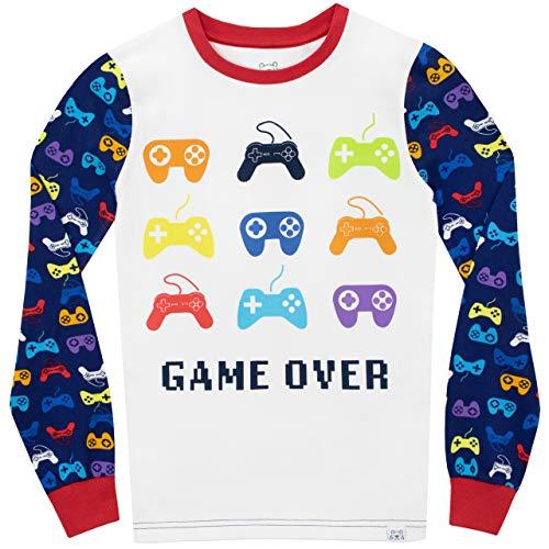 Harry Bear Boys Gaming Pyjamas Snuggle Fit Blue Age 7 to 8 Years