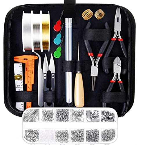 Herramientas de joyería que hace el kit especial de la cremallera del bolso de bricolaje para la reparación del collar de la pulsera Juegos de herramientas Leathercraft rebordear