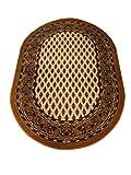 "oKu-Tex Webteppich Teppichläufer Brücke ""Bidjar"" | Orientmuster, Medallions klein | Oval | Farbe: Berber | 120 x 170 cm"