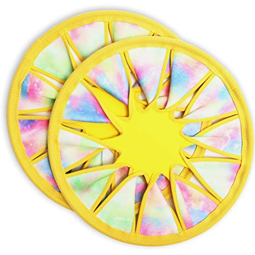 Soft Catch Flying Disc Toy Yellow 12 Inches 2Pack