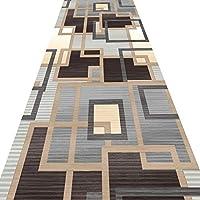 廊下の幾何学的な敷物のための長いランナーの敷物のための長いラグのための台所のポーチ保育園の装飾、カスタムサイズのための低杭カーペット (Color : A, Size : 100x200cm)