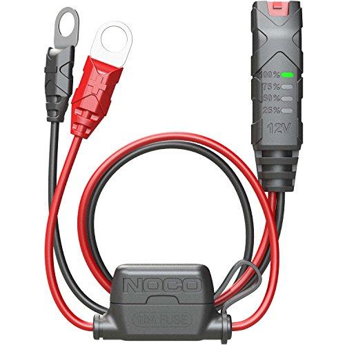 Accesorio NOCO GC015 X-Connect consistente en un indicador de batería de 12 V con ojales M10 para cargadores de batería inteligentes NOCO Genius