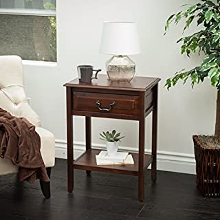 Christopher Knight Home Noah Brown Mahogany Wood Top Drawer Accent Table