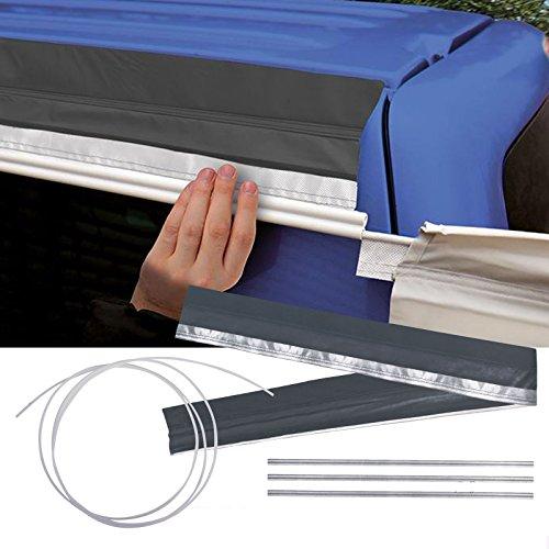 Magnet Kederschiene Set für freistehende Zelte - 280 x 15,5 cm, 8mm Keder, grau, 3,8 kg, 300D Oxford Mantel