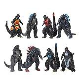 9CM 8 Pz/set Godzilla Figura Anime Action Figurine Q Versione Mostro Mini Statua Ornamenti Modello King Ghidrah Figma Decorazione Desktop Giocattoli godzilla vs kong toys king kong shin godzilla gioc