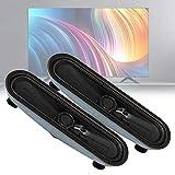 Kafuty-1 2 unids 8 ohmios 10 W con cable ordenador barra de sonido Televisión LCD TV altavoz de gama completa para uso de publicidad en el hogar