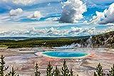 Cuteefun Puzzle 1000 Piezas Adultos Puzzle Paisaje Parque Nacional Yellowstone Rompecabezas Interesante Desafío Cerebral Regalo Ideal para Adolescentes