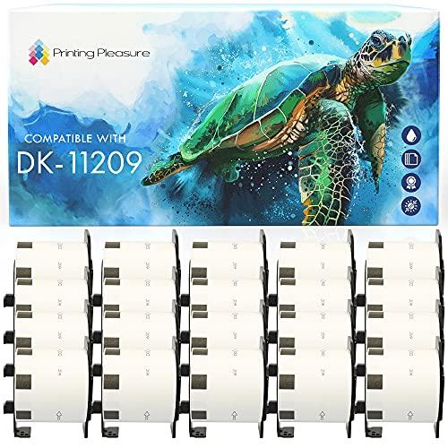 20x Compatible DK-11209 29mm x 62mm Etiquetas de dirección (800 Etiquetas por Rollo) para Brother P-Touch QL-500 550 570 700 710W 720NW 800 810W 820NWB 1050 1060N 1100 1110NWB, alta capacidad