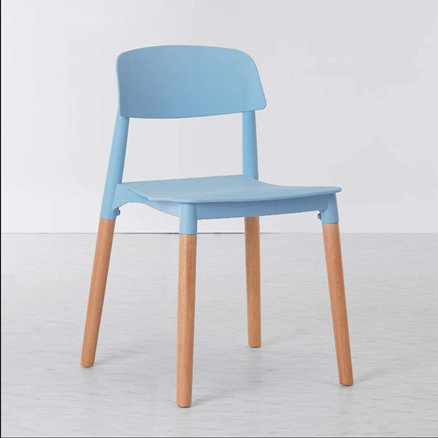 Chair Family Dining Chair Now Adult with Backrest Plastic Stool Dressing Table Makeup Chair Office Chair (color   bluee, Size   45  47  75cm)