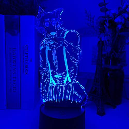 Dibujos animados hunter x hunter Decoración de dormitorio infantil acrílico 3D luz nocturna Lego figura de bloque de construcción pequeña luz de noche c MAOJIE
