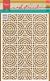 Marianne Design Plantilla de Máscara, Azulejos de Mosaico, para Scrapbooking, Crear Tarjetas y Otras Manualidades con Papel, plastico, Blanco, Small