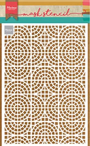 Marianne Design PS8035 Mosaic Tiles Kunst und Handwerk Mask Schablone, Mosaikfliesen, für Scrapbooking, Kartengestaltun und Papierbasteln, Opak, M