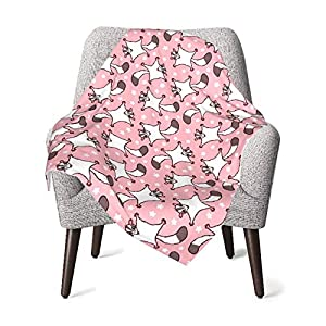 Baby Blankets for Boys and Girls Sweet Sugar Glider with Flowers Pink Cozy Soft Kid Blankets for Newborns InfantsToddlers and Nursery 30 X 40 Inch