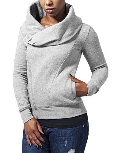 Urban Classics dames sweater Ladies Asymetric Zip Jacket