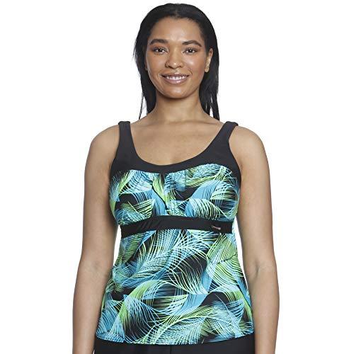 ZeroXposur Womens Peasant Tankini Top Swimsuit Bathing Suit Fiji 20W