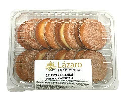Lázaro Galletas Fritas Rellenas De Crema De Vainilla 8 unidades, 300 g