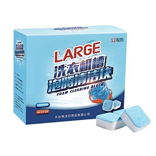 Luyao Lavatrice Detergente per vasca effervescente Disincrostante Rimozione profonda pulizia Deodorante Durevole, Forza professionale Eliminatore di macchie e odori(12pcs)