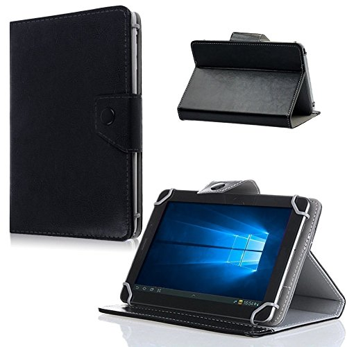 Nauci Tablet Tasche Hülle Odys Score Plus 3G Hülle Universal Cover Schutzhülle, Farben:Schwarz