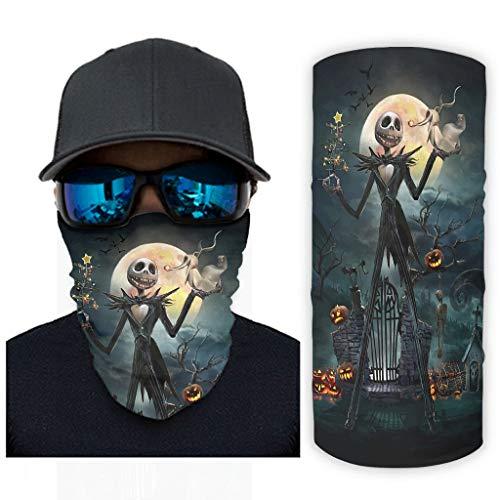 Jack Horror Magic bufanda cuello polaina bandanas para hombres y mujeres Handwear para al aire libre pulsera de bicicleta UV Sunburn diadema Halloween disfraz decoraciones