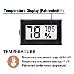 Meggsi 2-pack mini digital hygrometer gauge indoor thermometer, lcd monitor temperature outdoor humidity meter for… 9 mini, durable and portable, measuring humidity and temperature for indoor/outdoor. Fast response that measures every 10 seconds with 24 sensitive vents to provide updated and accurate readings. Fahrenheit (℉) display, this thermometer displays temperature in fahrenheit(℉). Comes with a gift kit (extra lr44 batteries+double-side tapes). Measuring humidity range :10%-99%rh, measuring humidity accuracy: +/-5%.