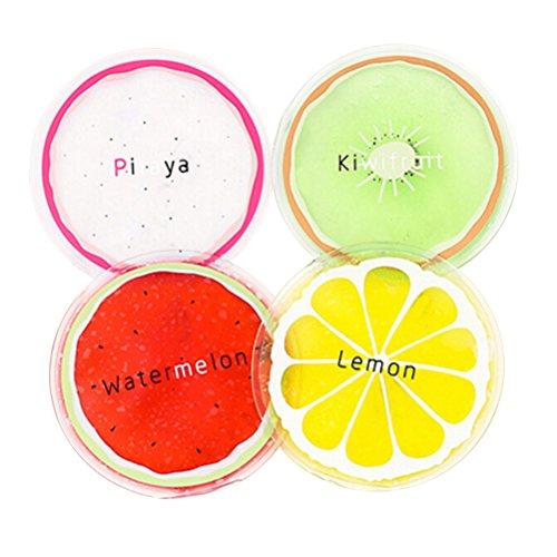 Artibetter 8 STÜCKE Kleine Runde Gel Eisbeutel Wiederverwendbare Mini Obst kalte Packung (Zufällig)