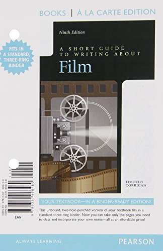 Short Guide to Writing about Film, Books a la Carte Edition Plus NEW MyLab Writing with eText -- Access Card Package (9t