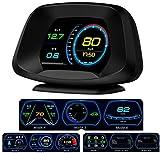 HUD Head up Display,Versión de navegación HUD Head up Display GPS/OBD2 Sistema dual Pantalla a color HD Intelligence GPS/OBD Fecha de computadora/Advertencia de velocidad/Map 4 en 1,fácil de instalar