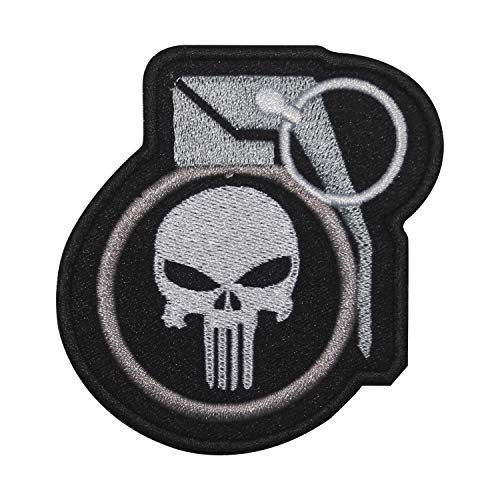 Punisher Superhelden-Film-Flicken zum Aufbügeln oder Aufnähen, bestickt, für Kleidung, Hemden, Jeans etc.