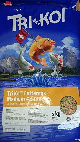 Tri Koi Futtermix ab 15° C - Koifutter aus der Schweiz - 4-5 mm (5 kg)