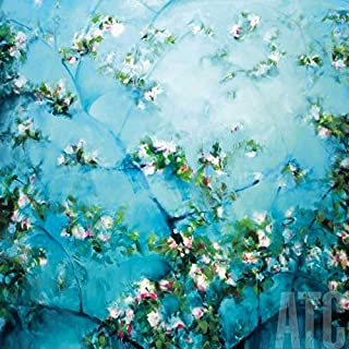 ArtToCanvas 27W x 27H inches : Apple Blossoms by Robert Striffolino - Framed Canvas