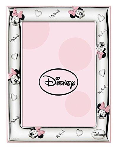 Disney Baby - Minnie Mouse - Marco de fotos decorativo - Ideal para mesitas de noche en habitaciones infantiles - Regalo para bautizos o cumpleaños - Plata