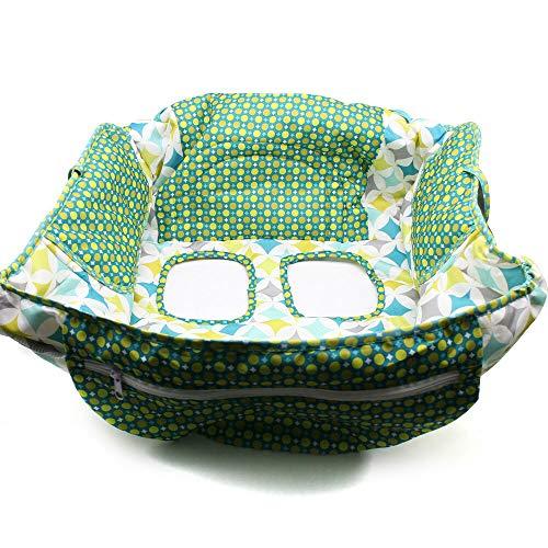 Funda protectora para carrito de la compra con bolsa de transporte, 2 en 1, para trona de bebé, asiento para silla alta, cojín para el carrito de la compra, suave, lavable (diamante)