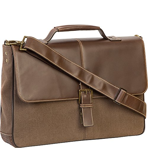 Boconi Bryant LTE Brokers Bag (Heather Brown with Houndstooth)